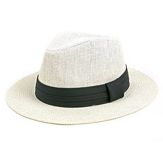 Pop Fashionwear Unisex Retro Fashion Straw Panama Fedora Hat (2 options available)