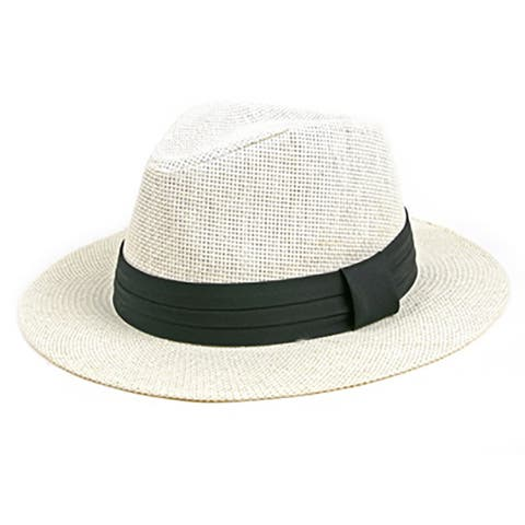 Pop Fashionwear Unisex Retro Fashion Straw Panama Fedora Hat