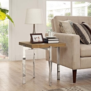 Diverge Wood Side Table
