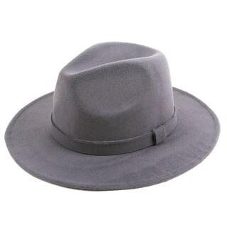 Pop Fashionwear Classic Wide Brim Fedora Hat (Option: Grey)