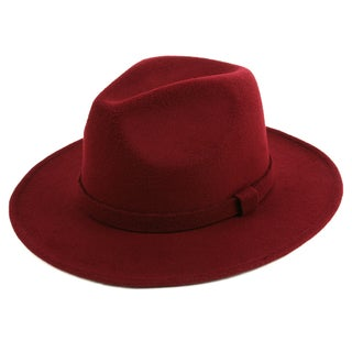 Pop Fashionwear Classic Wide Brim Fedora Hat
