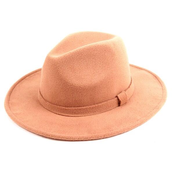 cb2aff79ade1d2 Shop Pop Fashionwear Classic Wide Brim Fedora Hat - Free Shipping On ...