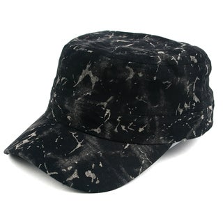 Pop Fashionwear Unisex Marble Painted Look Cadet Hat (3 options available)