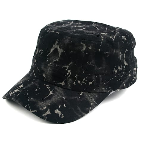 Pop Fashionwear Unisex Marble Painted Look Cadet Hat