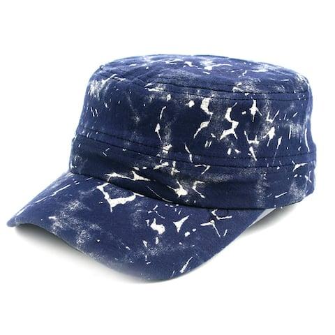 Pop Fashionwear Unisex Marble Painted Look Cadet Hat