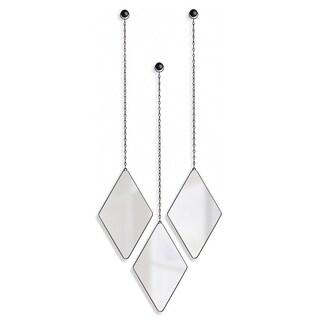 Umbra Dima Diamond Shaped Hanging Mirrors, Set of 3 358777-040