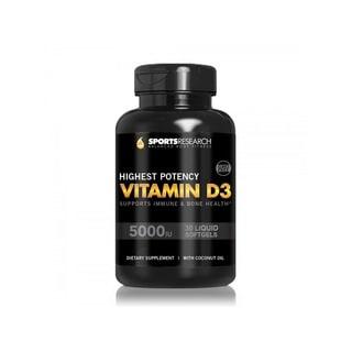 Sports Research Vitamin D3 (30 Softgels)