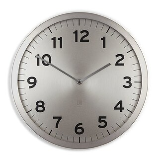 Umbra 1005476-410 Anytime Nickel Wall Clock