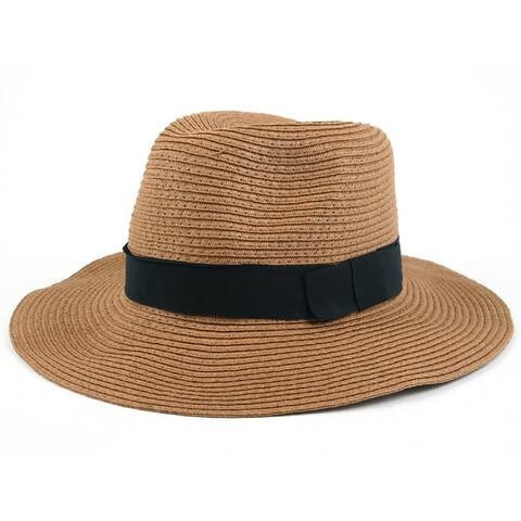Pop Fashionwear Women's Wide Brim Fedora Hat
