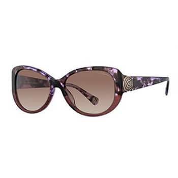 True Religion Unisex Sionan Purple Haze Grey Lens Oversize Sunglasses
