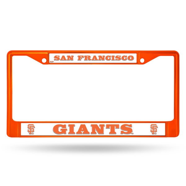 San Francisco Giants MLB Orange License Plate Frame
