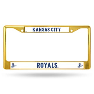 Kansas City Royals MLB Gold Color License Plate Frame