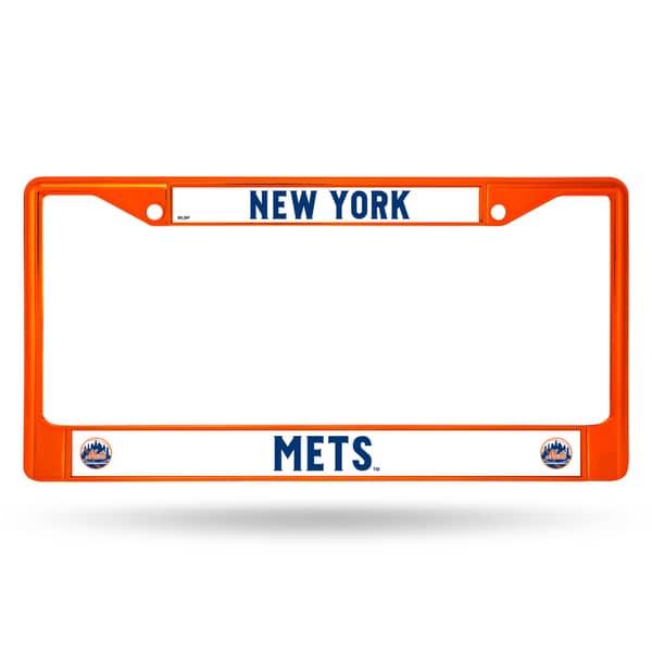 Shop New York Mets Mlb Orange Color License Plate Frame