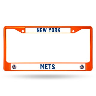 New York Mets MLB Orange Color License Plate Frame
