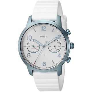 Fossil Women's ES4235 'Caiden' Dual Time White Silicone Watch