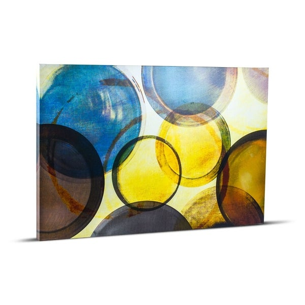 Abstract Circles Wall Art Painting Print on Canvas  sc 1 st  Overstock.com & Shop Abstract Circles Wall Art Painting Print on Canvas - Free ...