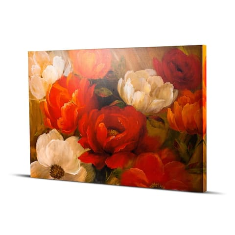 American Art Decor Jardin De Corail Peonies Flowers Impressionism Wall Art Painting Print on Canvas