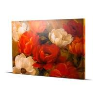 Jardin De Corail Peonies Flowers Impressionism Wall Art Painting Print on Canvas