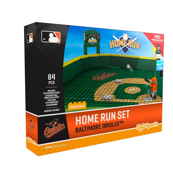 Baltimore Orioles MLB Home Run Derby Building Block Set