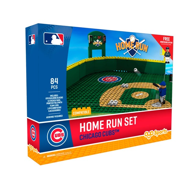 Chicago Cubs MLB Home Run Derby Building Block Set