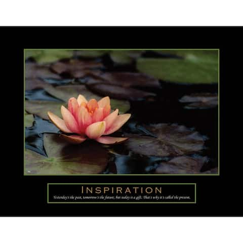DISCONTINUED - American Art Decor Motivational Inspirational Flower Photographic Print Painting on Canvas Wall Decor