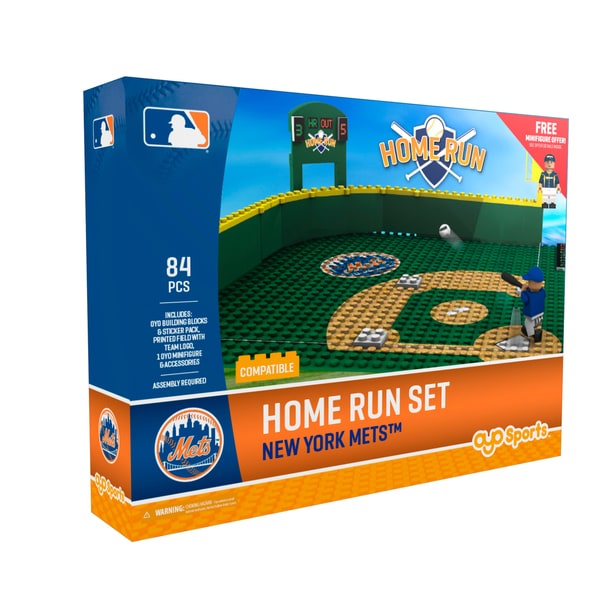 New York Mets MLB Home Run Derby Building Block Set
