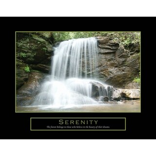 Motivational and Inspirational 'Serenity' Quote Print on Canvas