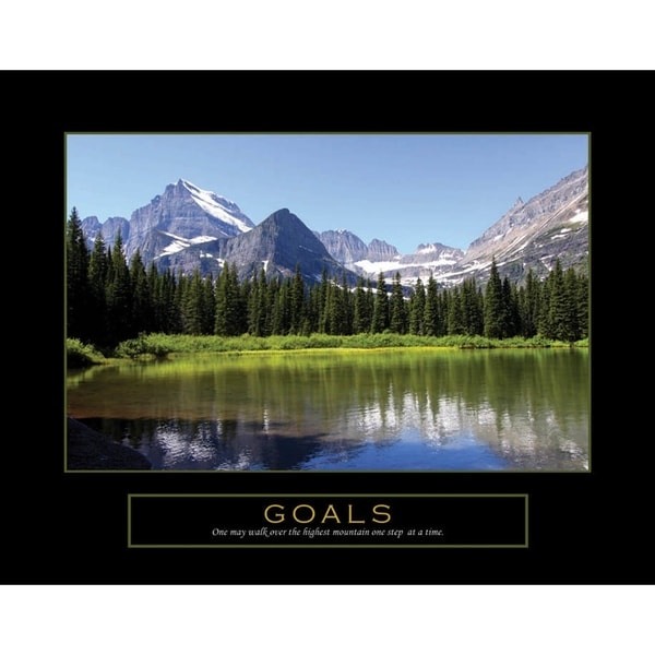 Shop Inspirational And Motivational Goals Quotes Office Painting