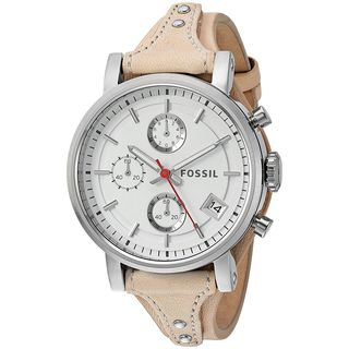 Fossil Women's ES4229 'Original Boyfriend' Chronograph Brown Leather Watch