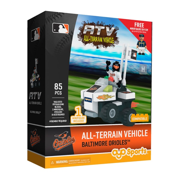 Baltimore Orioles MLB Vehicle w/Super Fan Building Set - Black/White