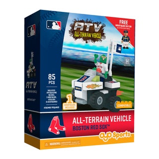 Boston Red Sox MLB Vehicle with Super Fan Building Set