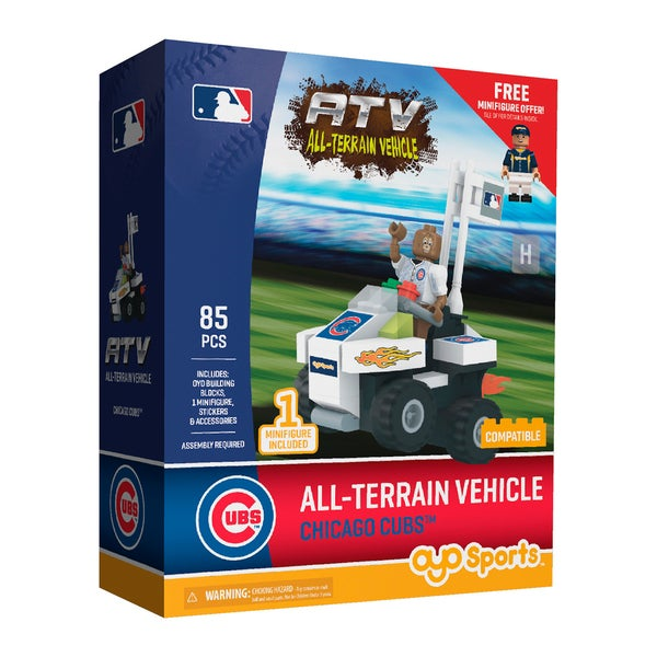 Chicago Cubs MLB Vehicle with Super Fan Building Set