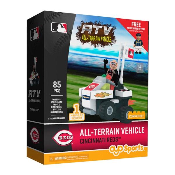 Cincinnati Reds MLB Vehicle with Super Fan Building Set