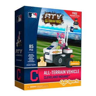 Cleveland Indians MLB Vehicle w/Super Fan Building Set