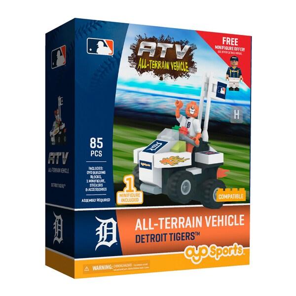 Detroit Tigers MLB Vehicle with Super Fan Building Set