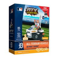 Detroit Tigers MLB Vehicle with Super Fan Building Set