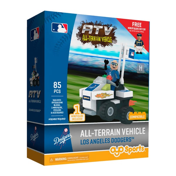 Los Angeles Dodgers MLB Vehicle w/Super Fan Build Set