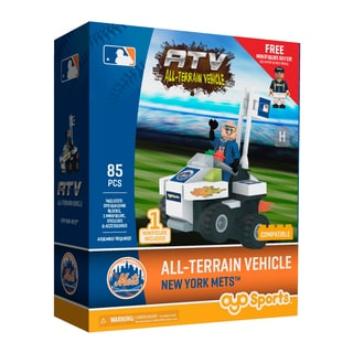 New York Mets MLB Vehicle with Super Fan Building Set