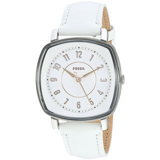 Fossil Women's ES4216 'Idealist' White Leather Watch
