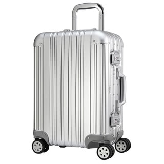 Swiss Style 20-inch Aluminum Alloy Hardside Spinner Upright Suitcase