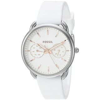 Fossil Women's ES4223 'Tailor' Multi-Function White Silicone Watch