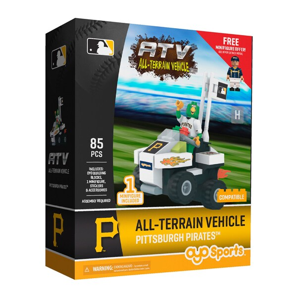 Pittsburgh Pirates MLB Vehicle w/Super Fan Building Set