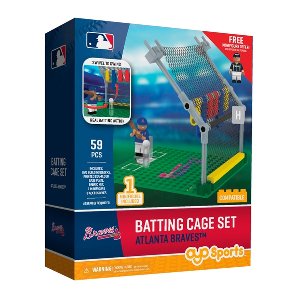 Atlanta Braves MLB Batting Cage Building Block Set