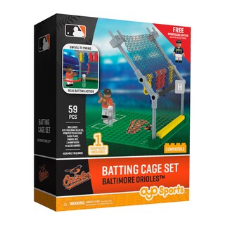 Baltimore Orioles MLB Batting Cage Building Block Set