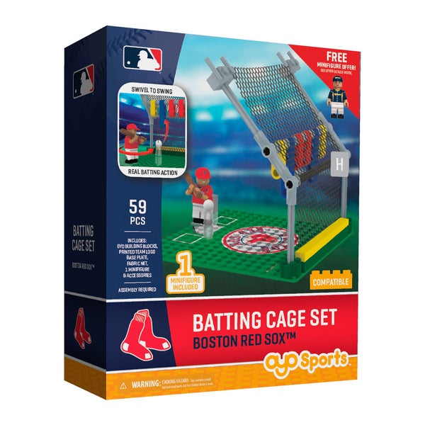 Boston Red Sox MLB Batting Cage Building Block Set