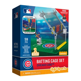 Chicago Cubs MLB Batting Cage Building Block Set
