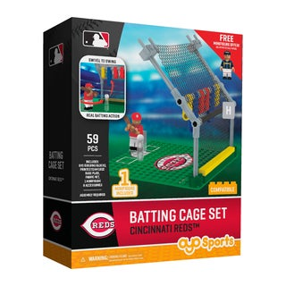 Cincinnati Reds MLB Batting Cage Building Block Set