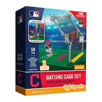 Cleveland Indians MLB Batting Cage Building Block Set