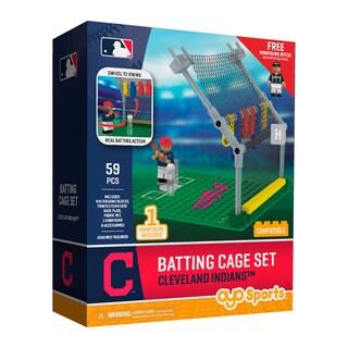 Cleveland Indians MLB Batting Cage Building Block Set
