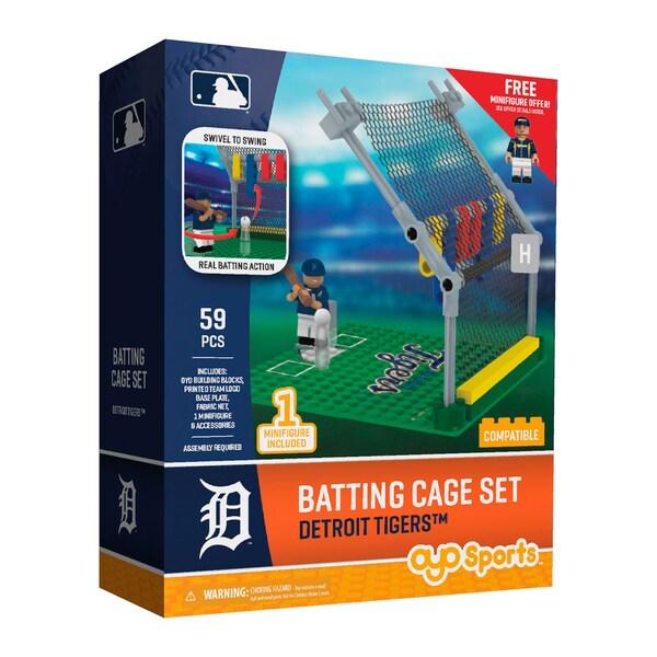 Detroit Tigers MLB Batting Cage Building Block Set